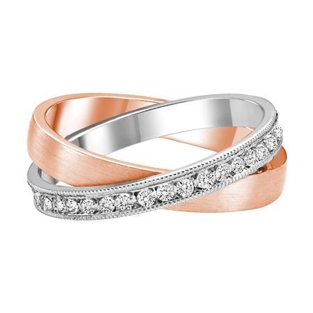 Diamond Two Tone Rolling Fashion Ring Brooks Diamonds