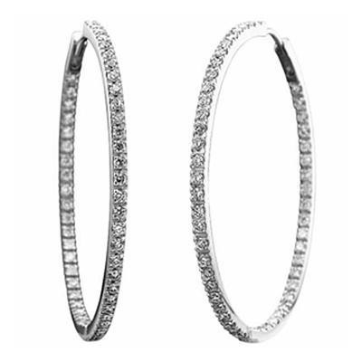 Inside/Outside Diamond Hoops-Diamonds