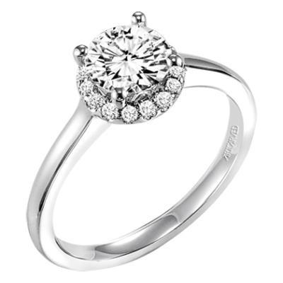 "ArtCarved ""Allison"" Diamond Engagement Ring-Diamonds"