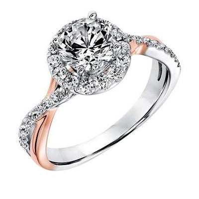 gold rings setting aileen rose h wedding ring si i bypass halo two engagement tone diamond white in