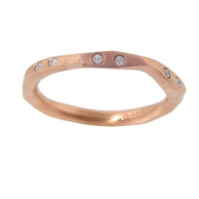 Rose Gold & Diamond Stackable Fashion Ring-Diamonds