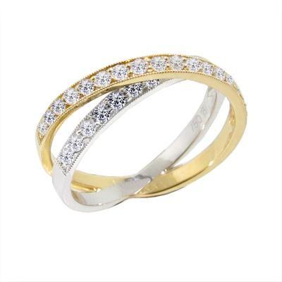 Two Tone Diamond Fashion Ring-Diamonds