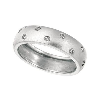 White Gold & Diamond Band-Diamonds