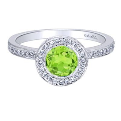 Gabriel & Co. Diamond & Peridot Ring-Diamonds
