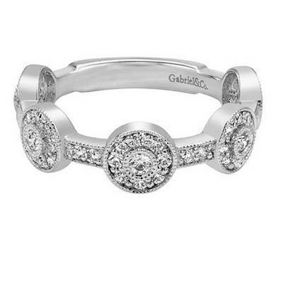 Gabriel & Co. Stackable Diamond Rings-Diamonds