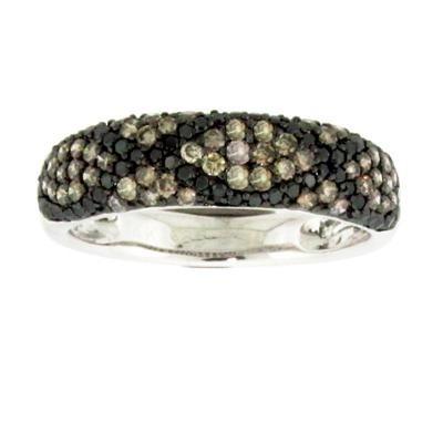 Champagne & Black Diamond Ring-Diamonds