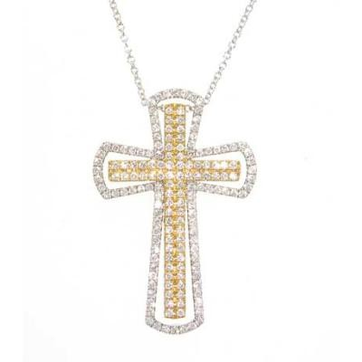 Diamond Cross Necklace-Diamonds