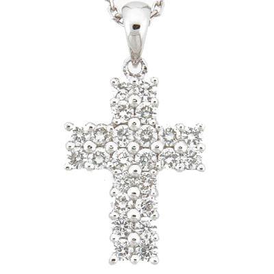 Diamond Cross Pendant-Diamonds