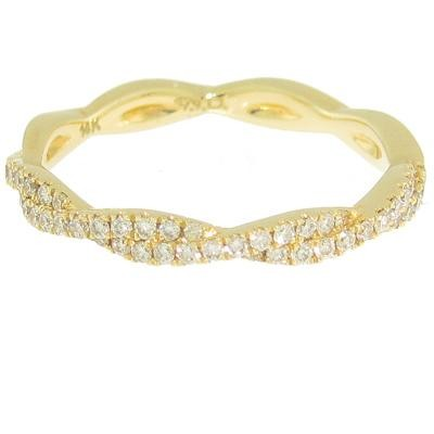 Yellow Gold Diamond Wedding Band-Diamonds