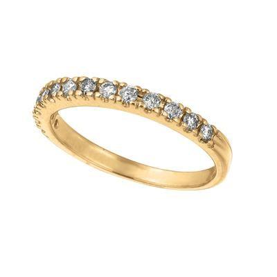 Yellow Gold Diamond Band-Diamonds