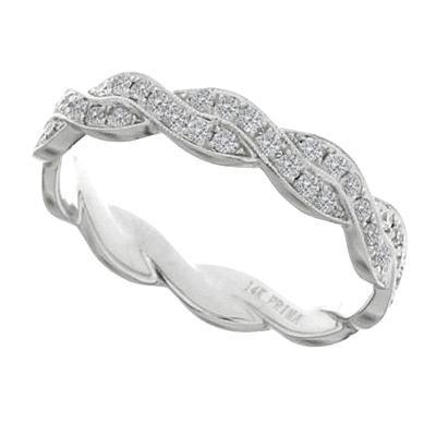 Diamond Twist Wedding Band-Diamonds