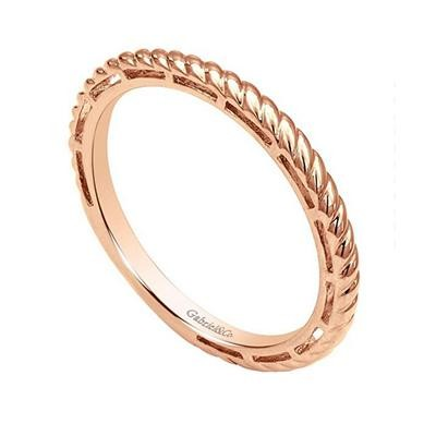 Rose Gold Twist Stack Ring-Fashion Jewelry