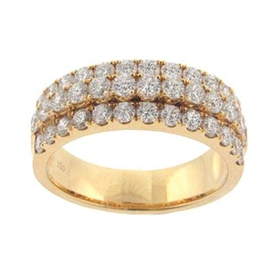 Three Row Diamond Fashion Ring-Fashion Jewelry