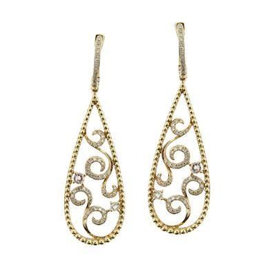 Diamond Tear Drop Earrings-Fashion Jewelry