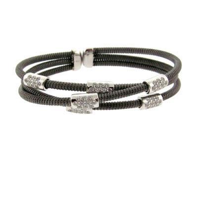 Sterling Silver Triple Strand Bracelet-Silver Jewelry
