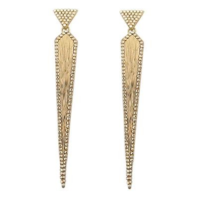 Dagger Earrings With Swarovski Crystals-Silver Jewelry