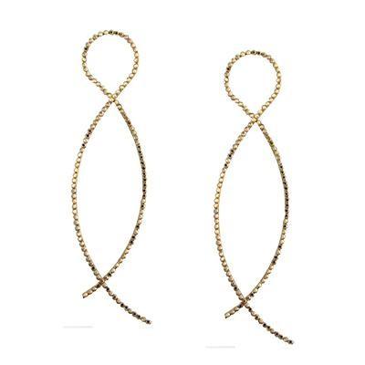 Loop Earrings With Swarovski Crystals-Silver Jewelry