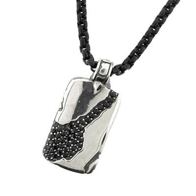 TRITON Sterling Silver Dogtag-Mens Jewelry