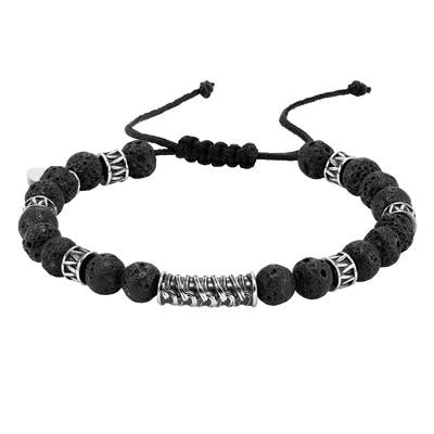 TRITON Stainless Beaded Bracelet-Mens Jewelry
