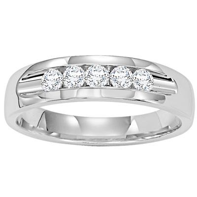 Mens Diamond Wedding Band-Mens Wedding Bands