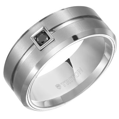 TRITON Tungsten Band-Mens Wedding Bands